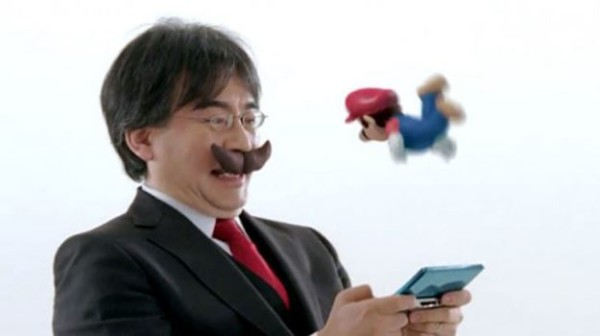 Iwata with a mustash