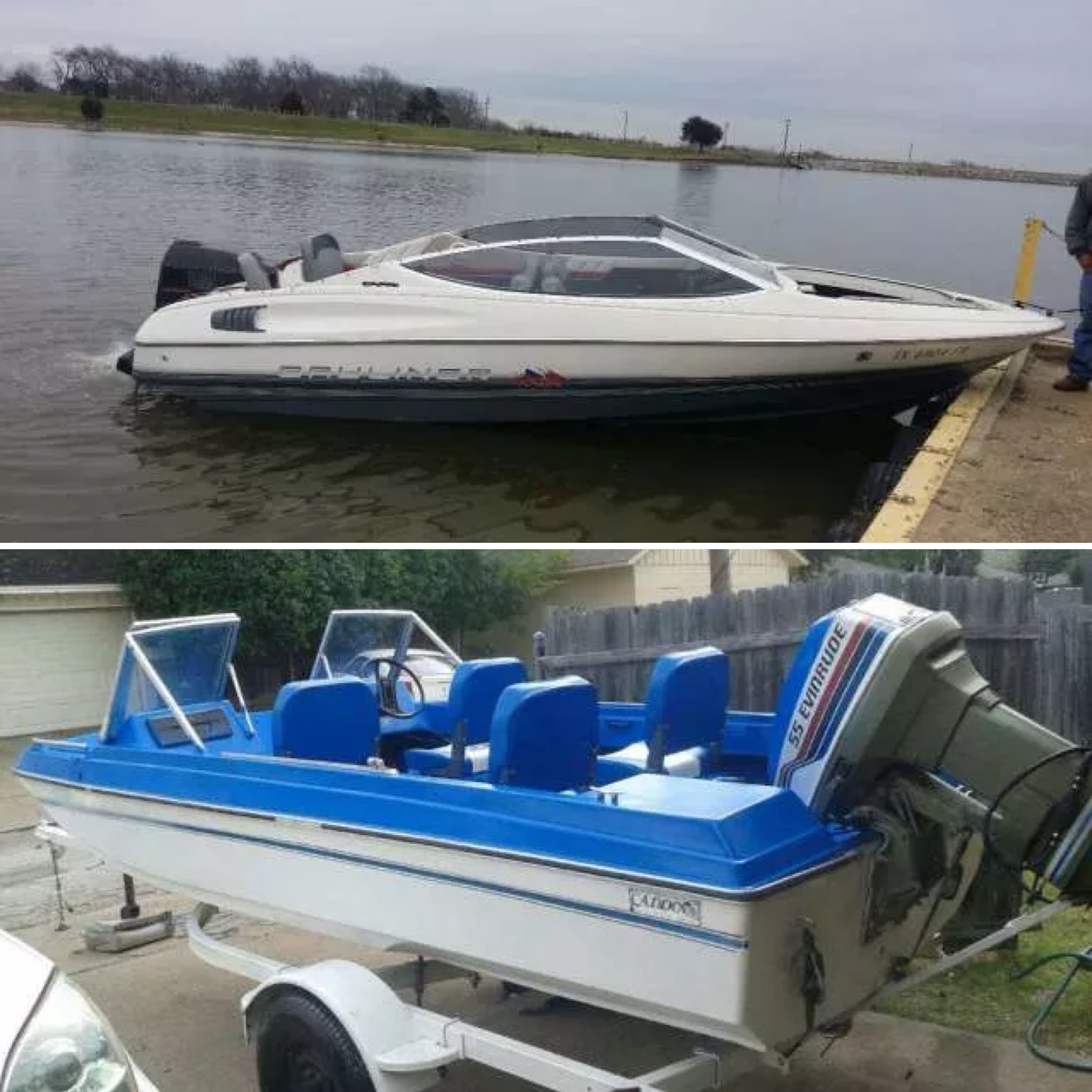 A 1990 Bayliner with trailer ($3,000) vs. a fully-reconditioned 1977 Caddo ($3,200)