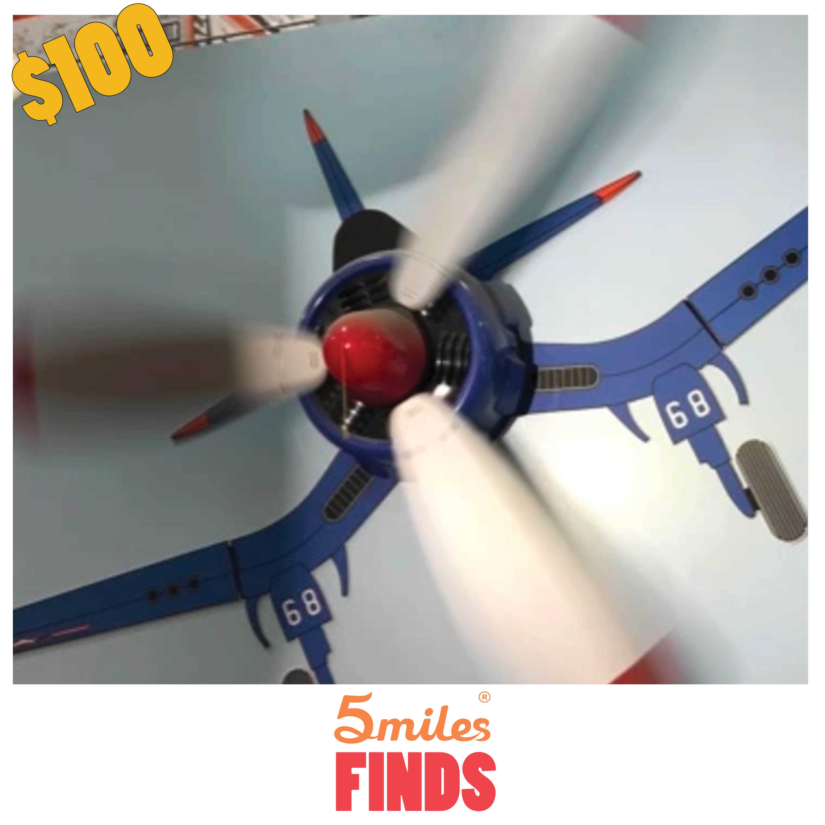 5miles Finds Kids Airplane Ceiling Fan 5miles