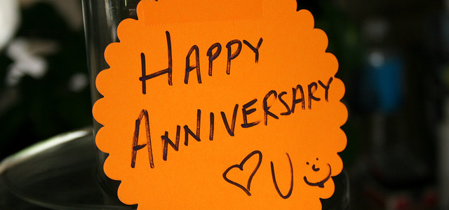 We're celebrating an anniversary!