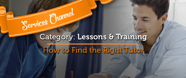 Services Channel Feature #4: How To find A Lessons & Training Tutor